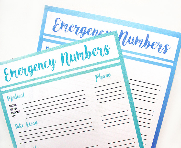 Free Printable Emergency Contact List The Craftables - free contact list template