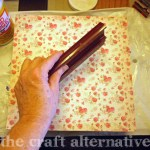 How to Make a Wood Sign with a Paper Background 4