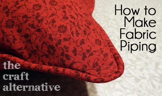 How To Make A Throw Pillow With Piping And Zipper : Make a Decorative Edge for a Pillow - The Craft Alternative