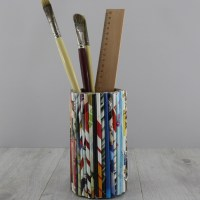 How to make a Recycled Magazine Pencil Holder ...