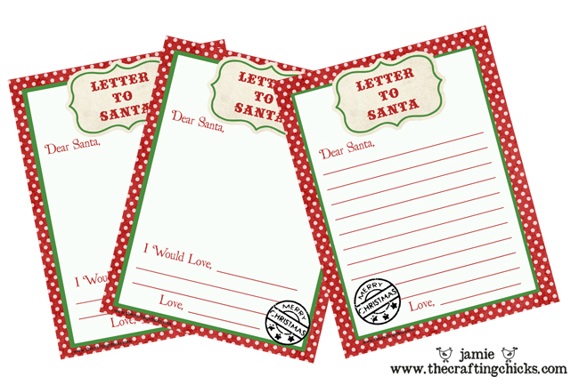 Letter to Santa Free Printable Download - free templates for letters