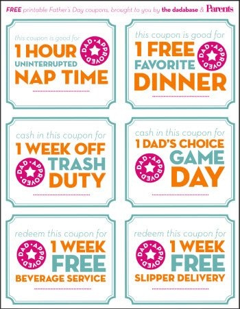12 Free Printable Father\u0027s Day Gift Ideas - The Crafting Chicks