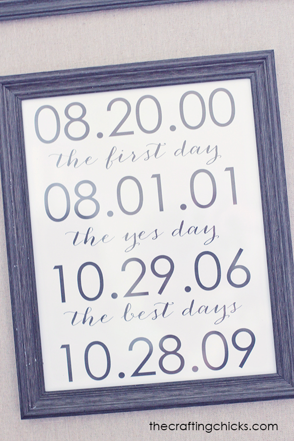 Dates to Remember Print *Free Template - The Crafting Chicks - important dates template