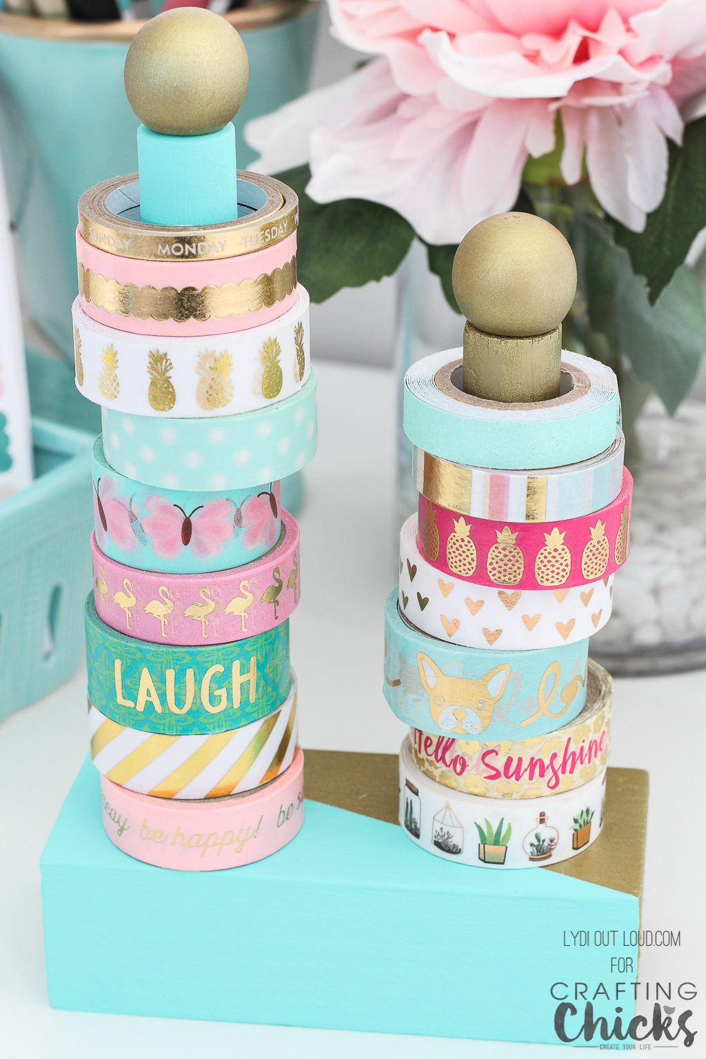 Washi Tape Diy Geometric Diy Washi Tape Holder - The Crafting Chicks