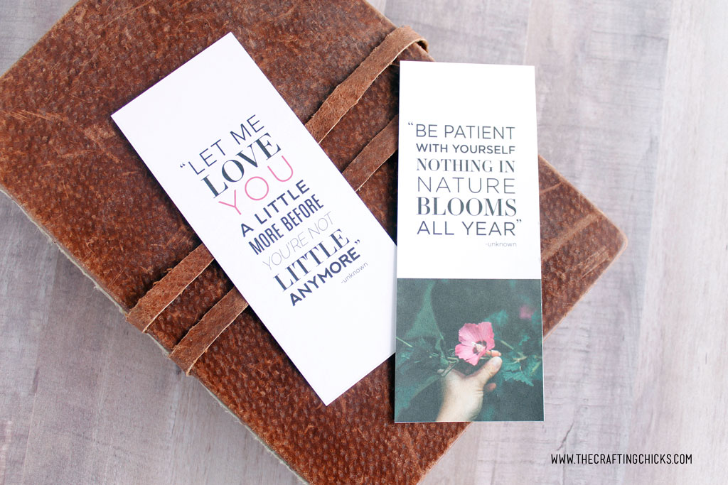 Inspirational Quotes Free Printable Bookmarks - The Crafting Chicks
