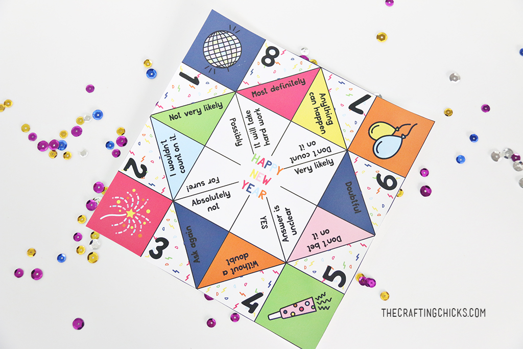 New Years Fortune Teller Printables - The Crafting Chicks