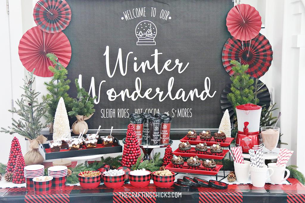 Winter Wonderland Backdrop Printable - The Crafting Chicks