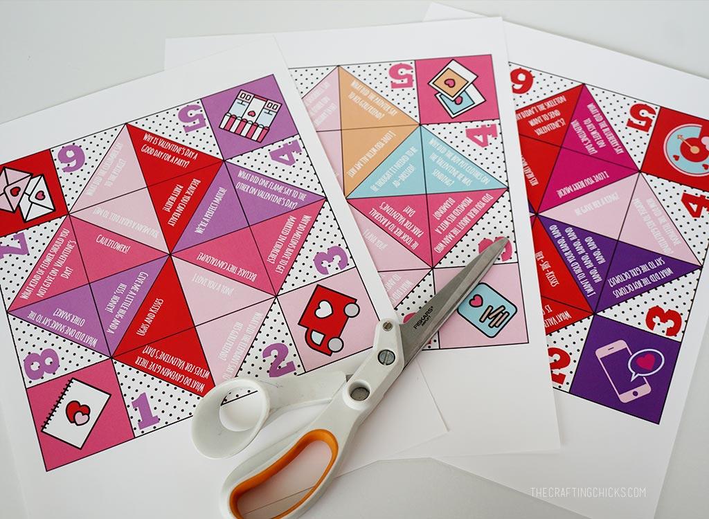 Valentine Cootie Catchers - The Crafting Chicks