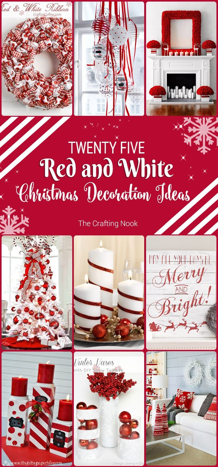 25 Red And White Christmas Decoration Ideas The Crafting Nook