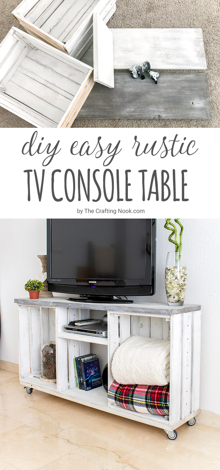 Diy Easy Rustic Tv Console Table The Crafting Nook