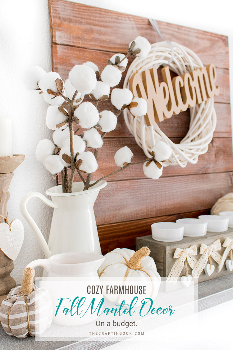 Farmhouse Rustic Fireplace Mantel Decor Farmhouse Fall Mantel Decor On A Budget The Crafting Nook