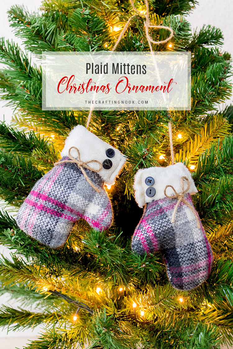 Diy Christmas Ornaments Diy Mittens Christmas Ornament With Video Tutorial The