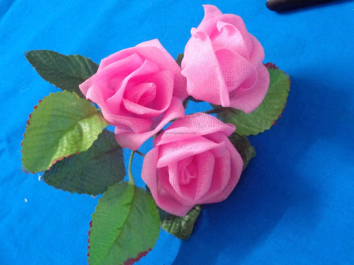 Organdy Rose Flower making DIY Tutorial  #1