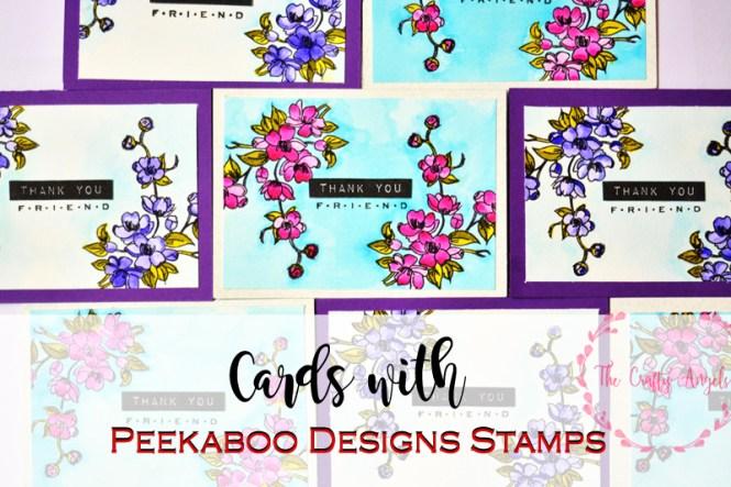 peekaboo designs, indian stamp, cardmaking, papercraft, flower card, thankyou card, friends card, handmade friendship card, peekaboo stamps, stamps in india, cardmakingi n india, online craft supply store india