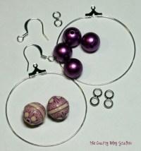 DIY Beaded Hoop Earrings - The Crafty Blog Stalker