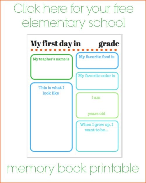 DIY School Memory Book With Free Printables - The Crafty Blog Stalker