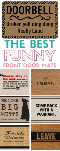 The Best Funny Front Door Mats on Amazon - The Crafty Blog ...