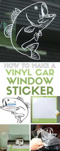 How to Make a Vinyl Car Window Decal Sticker with Cricut ...