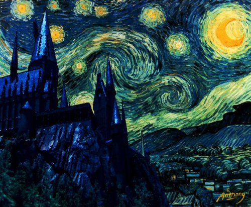 Griffoendor Harry Potter Hogwarts Starry Night | The Crafty Cauldron