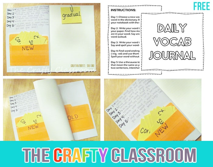 Simple Daily Homeschool Journal - The Crafty Classroom
