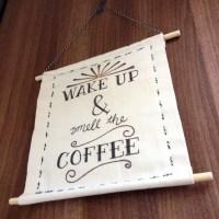 DIY Hanging Fabric Wall Art | The Crafty Gentleman