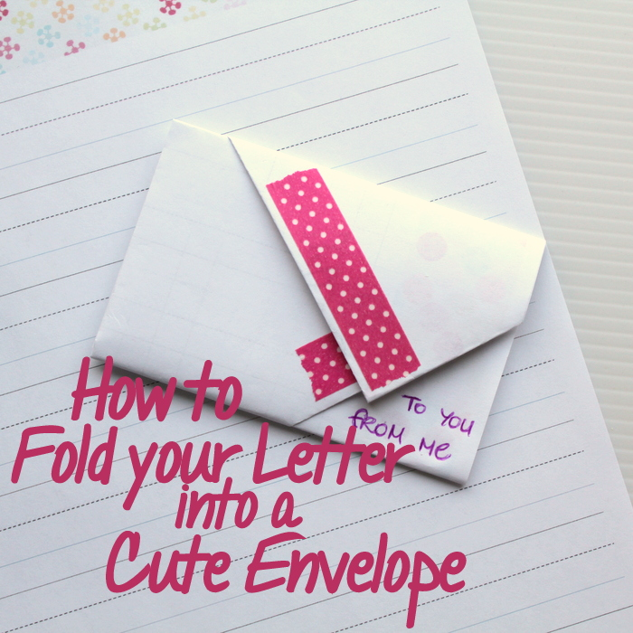 How to Fold an Envelope \u2022 The Crafty Mummy