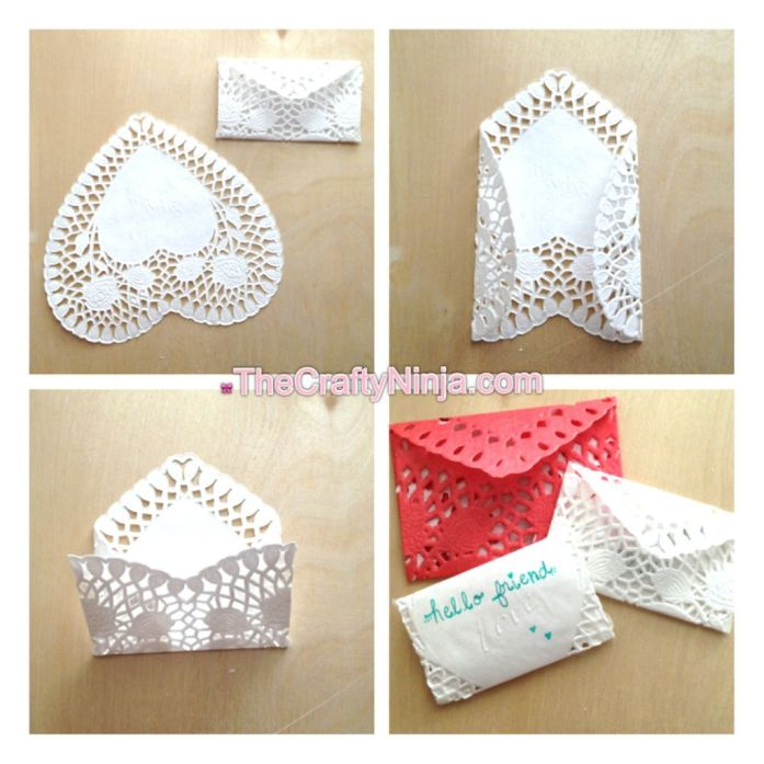 heart doily envelope