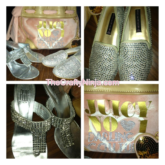 rinestone shoes purse