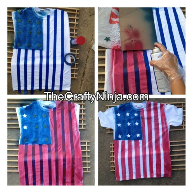 diy flag shirt
