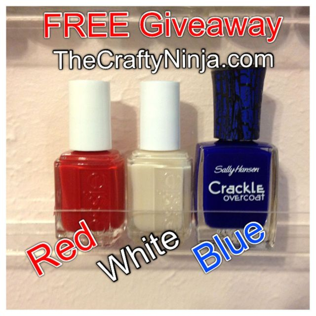 red white blue giveaway
