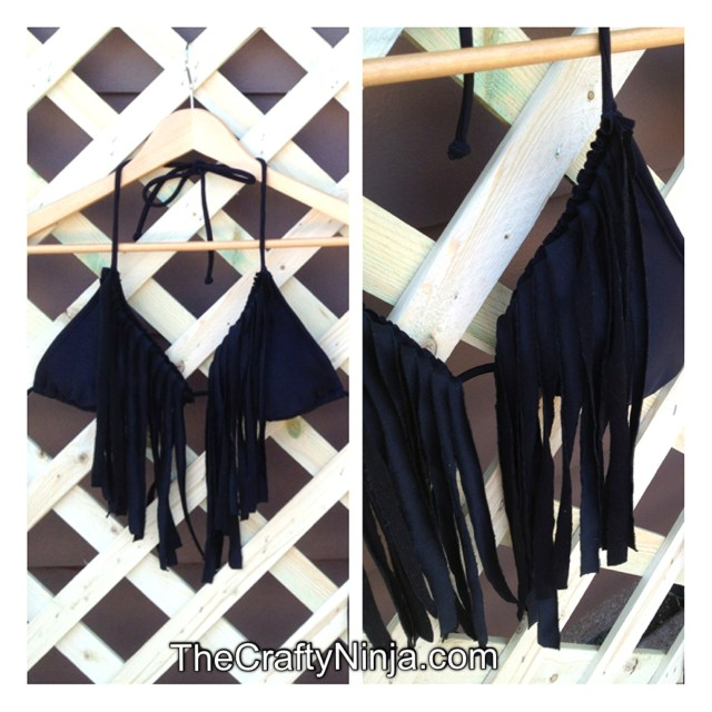 diy fringe swimsuit