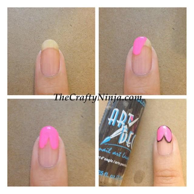 diy heart nails
