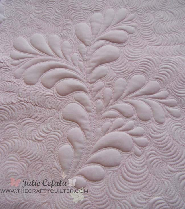 Quilted Feather from The Crafty Quilter
