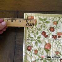 Quick trick for hanging a small quilt
