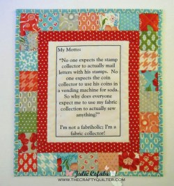 Quilter's Motto Wall Hanging