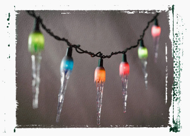 Frozen christmas lights