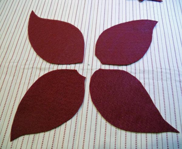 poinsettia petals placement