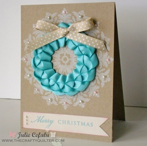 Ribbon Wreath Card