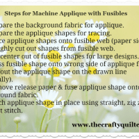 Applique Part 2 - Machine Applique with Fusibles