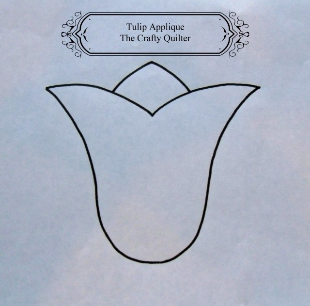 tulip applique pattern via the crafty quilter