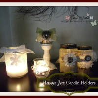 Christmas Once A Month, April - Mason Jar Candle Holders