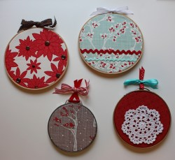 Decorate with Christmas Embroidery Hoops