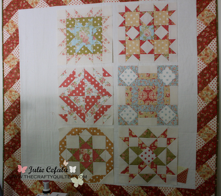Design wall @ The Crafty Quilter