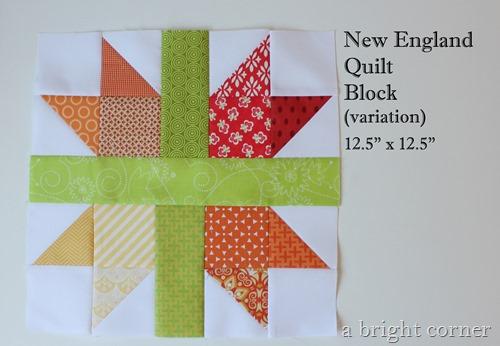 New england quilt block