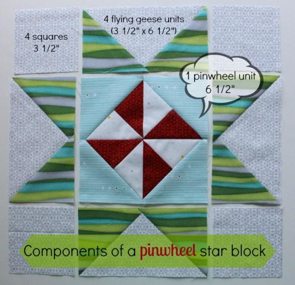 christmas pinwheel star components