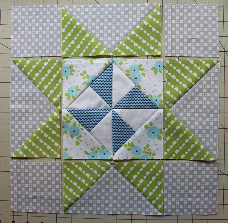pinwheel star laid out