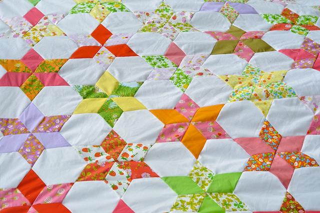 star flower quilt along