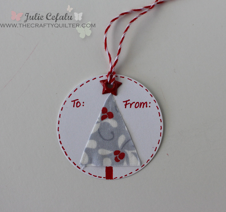 Christmas Tree Circle Gift Tag @ The Crafty Quilter