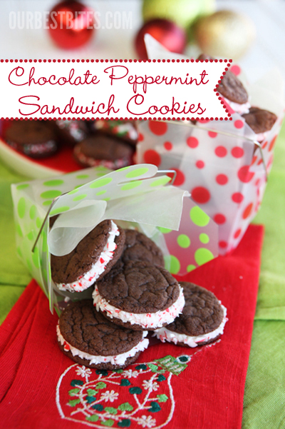 Chocolate-Peppermint-Sandwich-Cookies and Holiday Neighbor Gifts