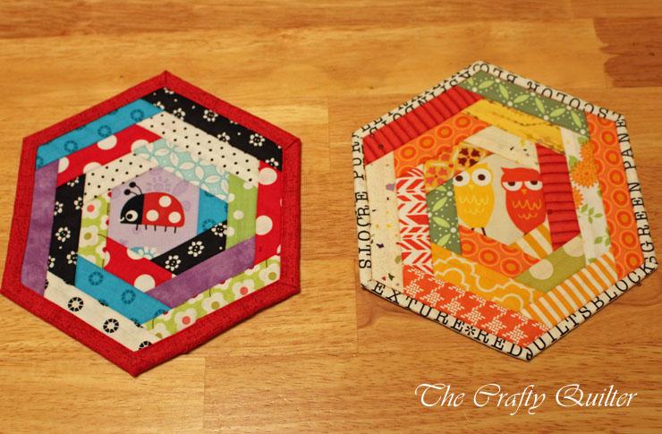 Two hex mug rugs copy